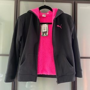 NWT PUMA girls warm zip up hoodie